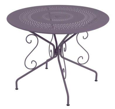 Table FERMOB Montmartre ronde Ø 96 cm, Table de Jardin Camif ...
