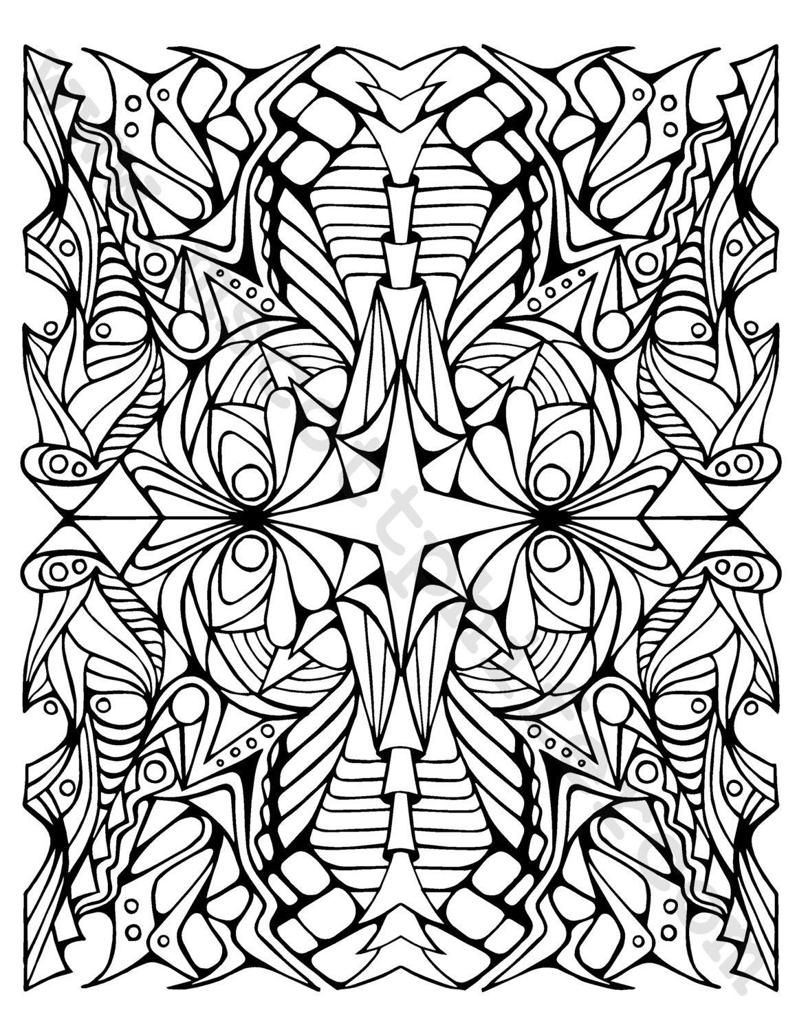 Adult Coloring Page (Dragons) (1.25 USD) by BrokenCrayonWorks ...