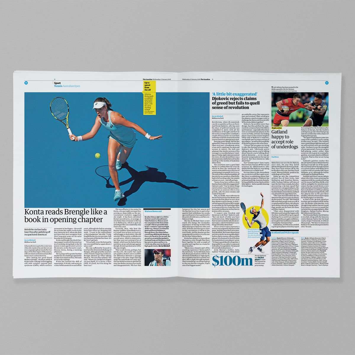 Guardian Sport #editorialdesign #newsdesign #graphicdesign #sportsdesign