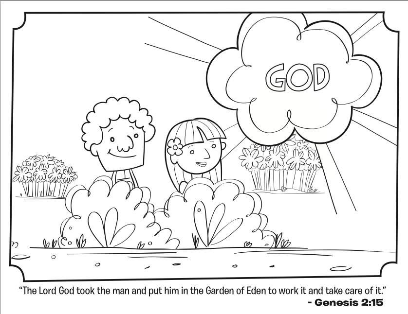adam and eve coloring page - Adam Eve Story Coloring Pages