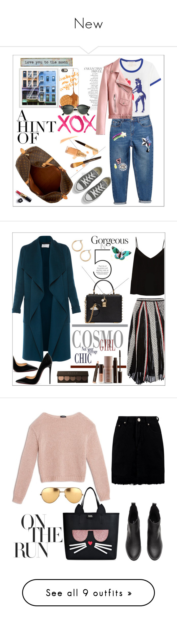 """""""New"""" by kryskristine ❤ liked on Polyvore featuring Marc Jacobs, GALA, Pottery Barn, Louis Vuitton, Casetify, Chanel, Natural Life, By Terry, Dolce&Gabbana and Converse"""