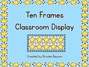 Star Ten Frames Classroom Display