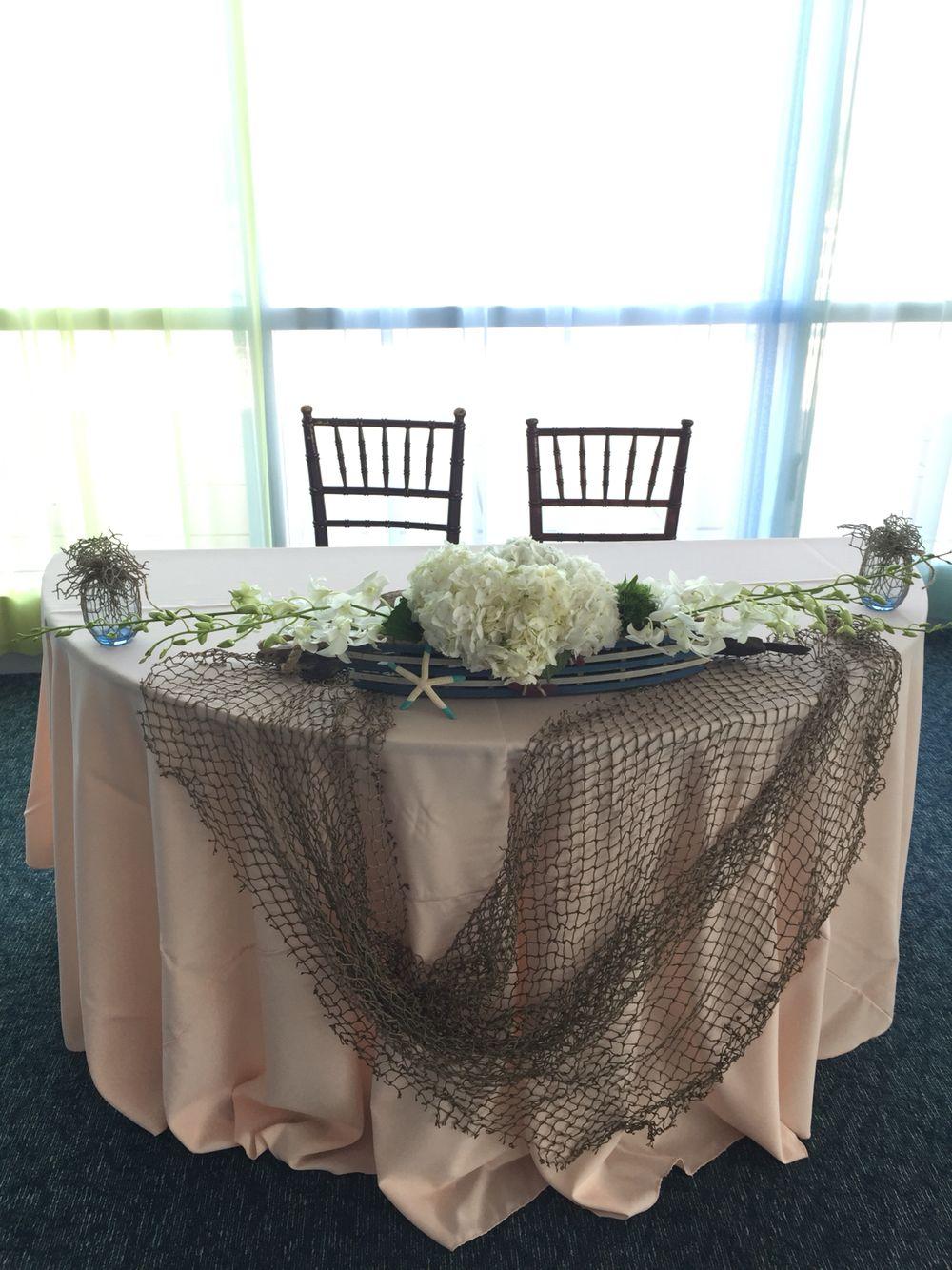Sweetheart table beach nautical centerpiece Nautical