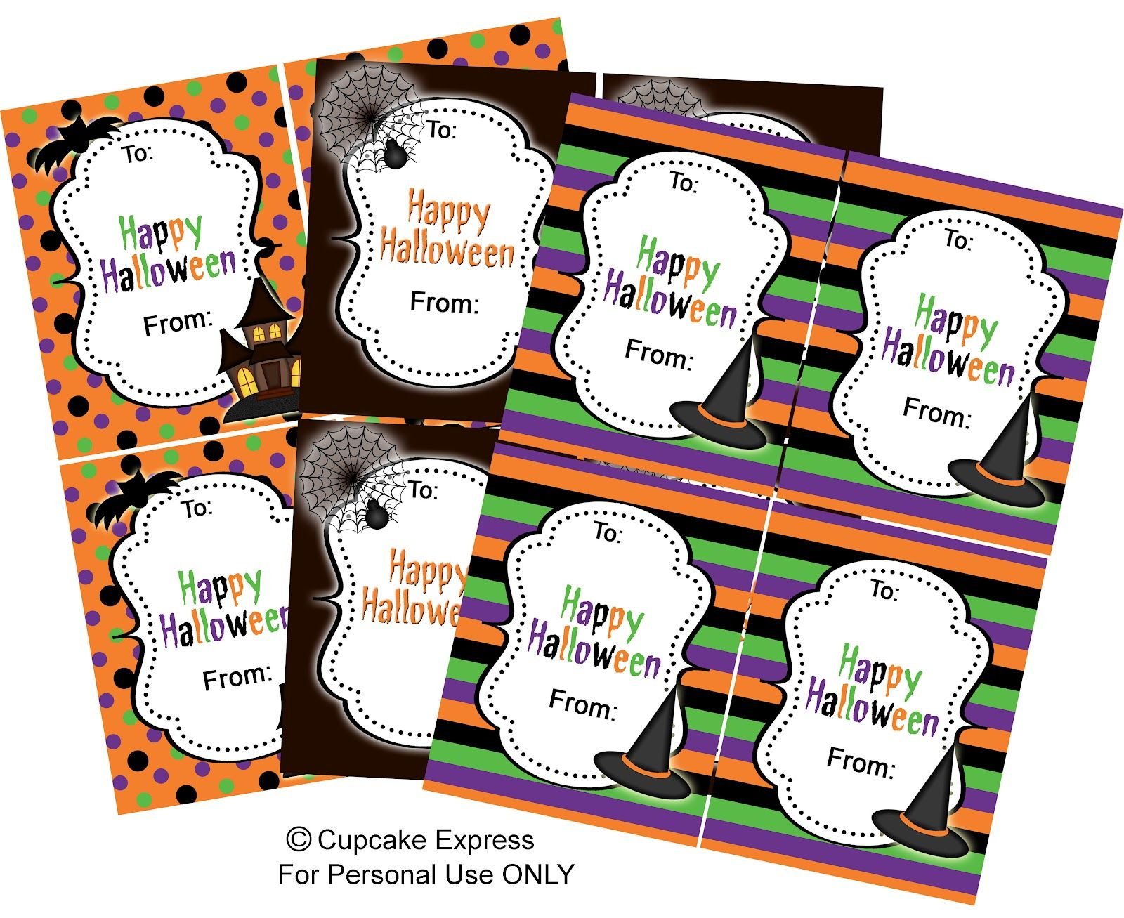 I Made These For My Daughters Halloween Party At School And They Turned Out Really Cute Th Halloween Labels Printable Halloween Labels Printable Halloween Tags