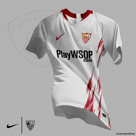 f2161e6056e4f6 Unique Nike Sevilla 18-19 Home, Away & Third Kit Concepts by José Carrasco  - Footy Headlines