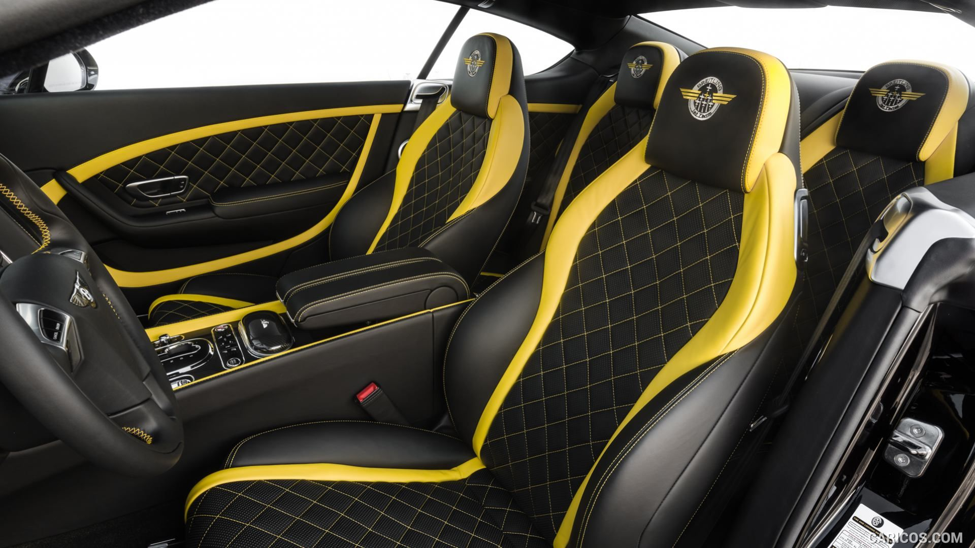 bentley continental gt speed black edition set for 2017 yellow and black and grey two tone seats. Black Bedroom Furniture Sets. Home Design Ideas