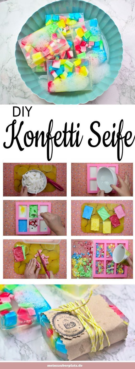 Seife selber machen ist einfach und ein tolles Geschenk. Konfetti Seife mit Kind... -  Seife selber machen ist einfach und ein tolles Geschenk. Konfetti Seife mit Kindern machen macht Sp - #Ein #einfach #Geschenk #ist #Kind #Konfetti #Machen #mit #Seife #Selber #tolles #und