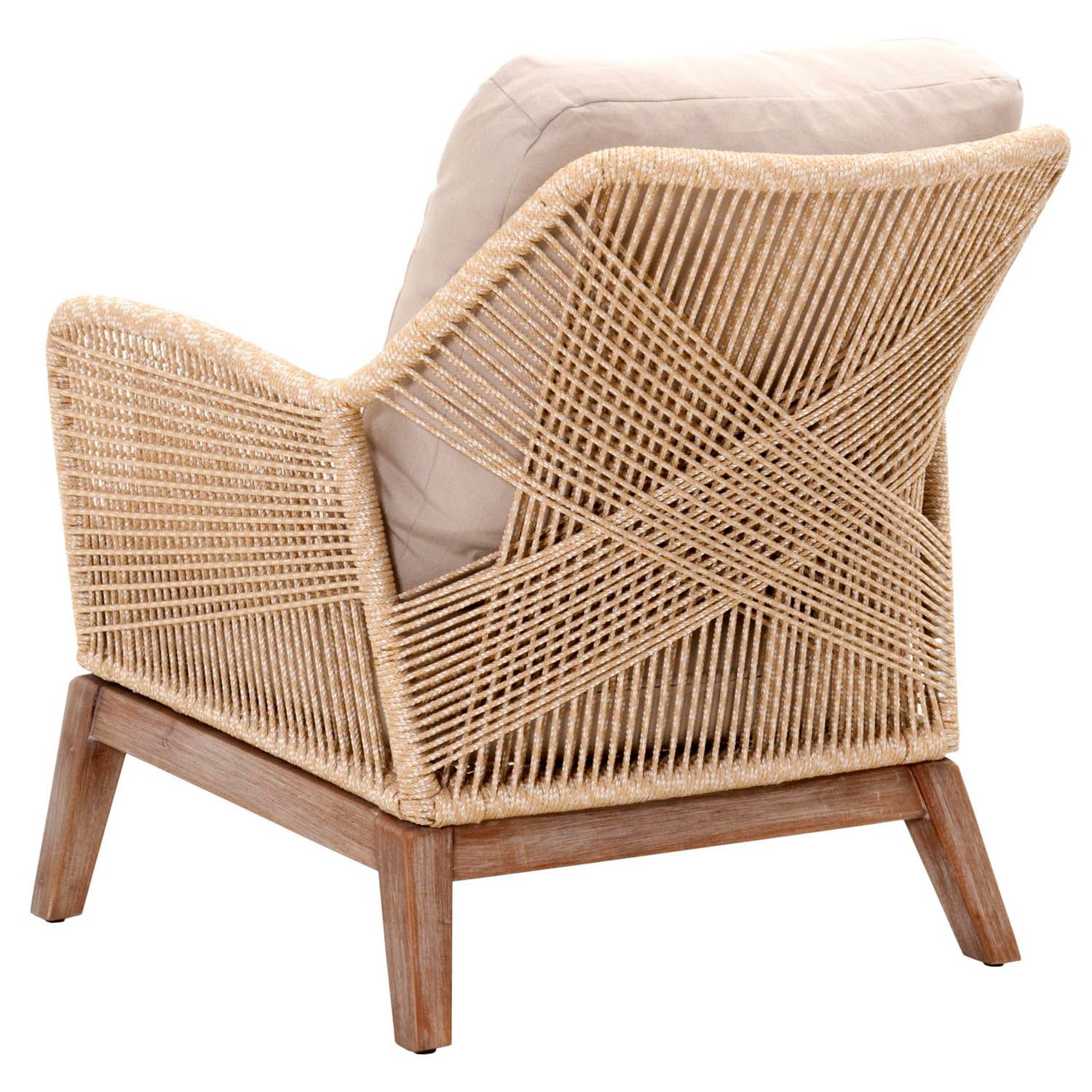Our Luca Sand Woven Rope Club Chair Features An Intricately Woven Rope Design Adding Flair To Any Outdoor Furniture Cushions Wicker Dining Chairs Club Chairs
