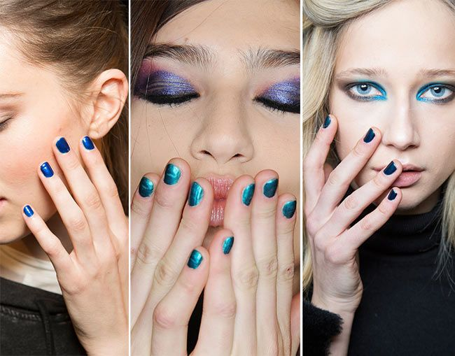 All About Blue Manicure Fall Winter 2017 2016 Nail Trends