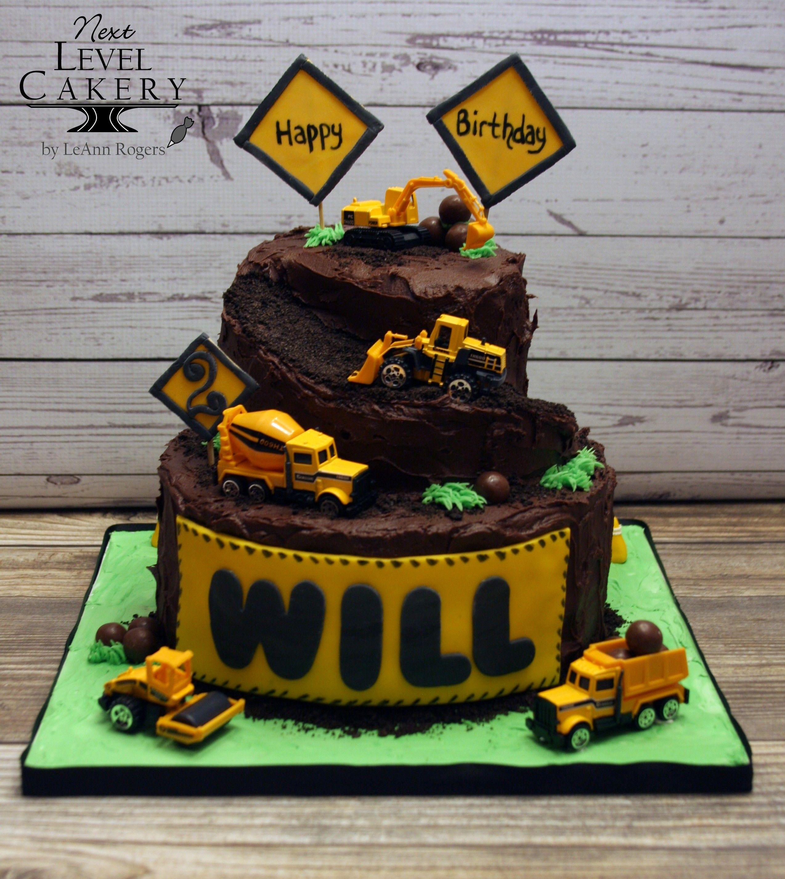Remarkable Construction Cake 2 Year Old Boy Cake Chocolate Cake Ramp Cake Birthday Cards Printable Inklcafe Filternl