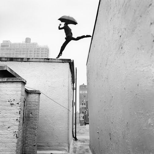 umbrella and roof leaping