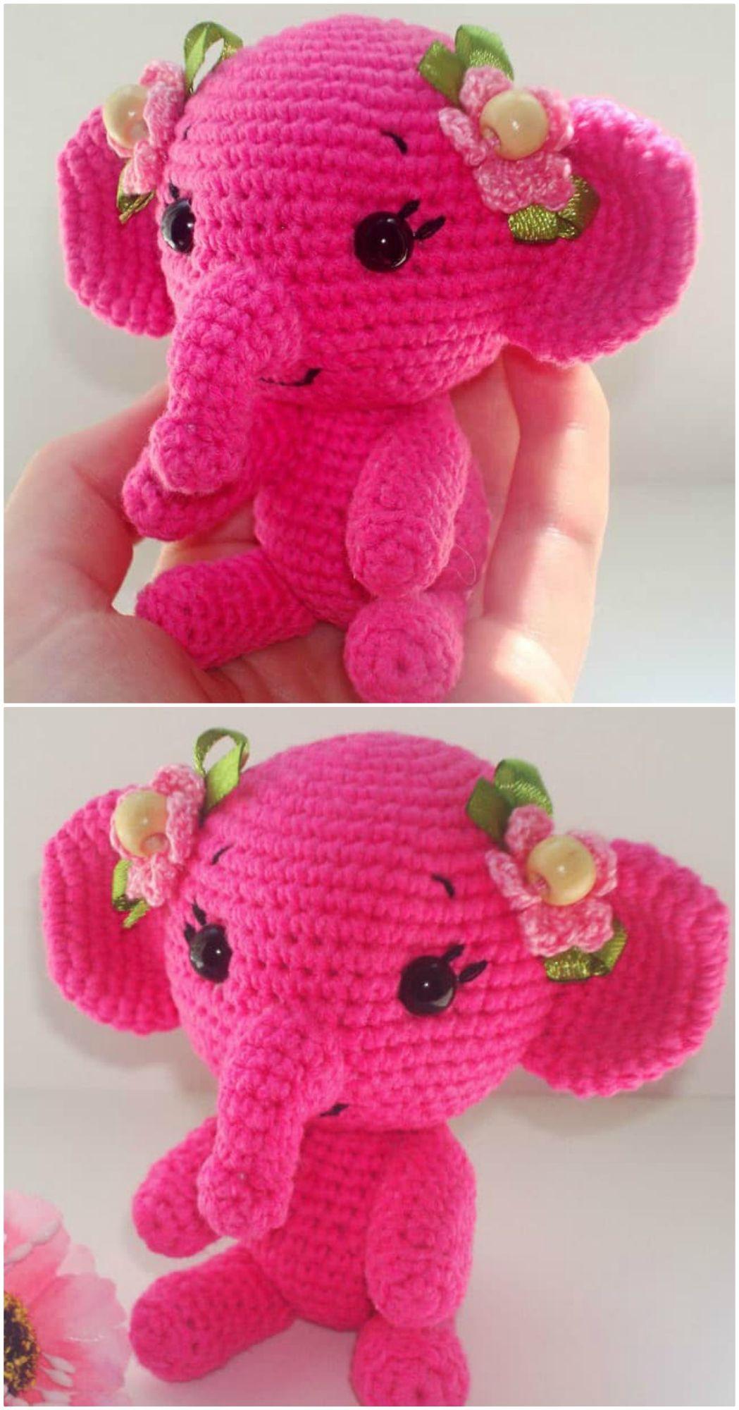 Elephants In Love | Free Crochet Pattern | Hooked by Kati | 2000x1049