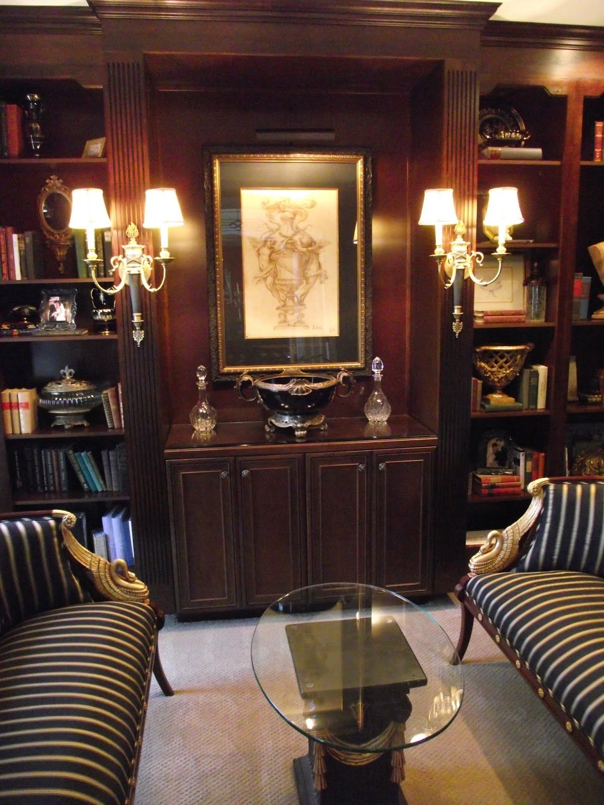 Classic Library Desk Google Search Traditional Home Office Home Library Home