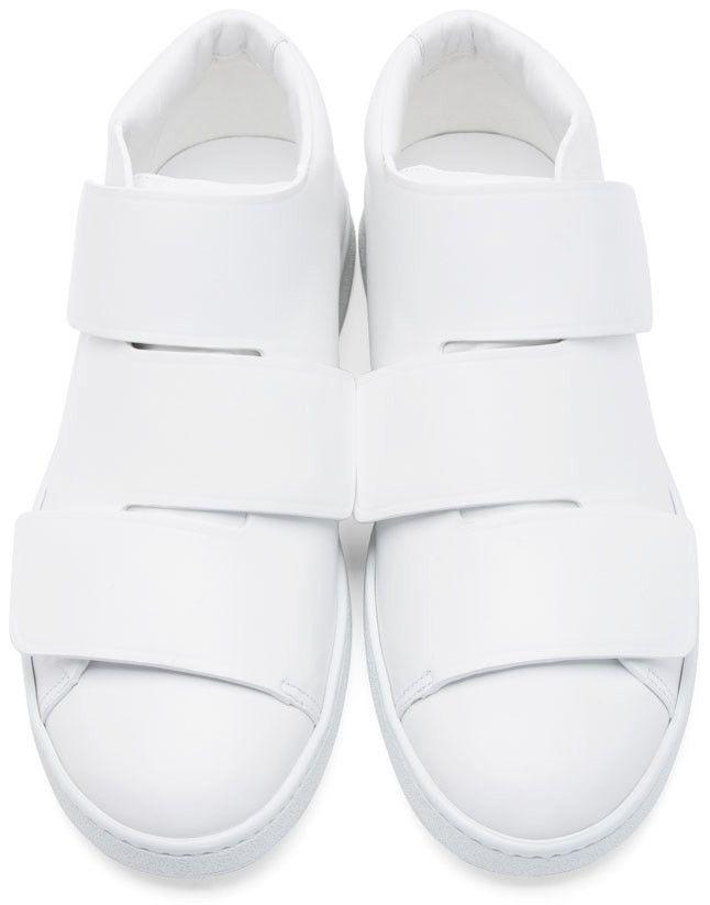cde3ae6f5de46 Acne Studios White Triple Mid-Top Sneakers