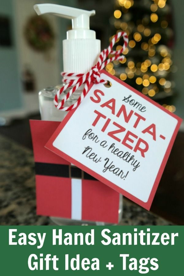 Santa Tizer Hand Sanitizer Easy Christmas Gift Idea Cheap