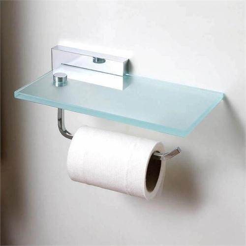 Toilet Roll Holder With Glass Shelf By Bissonnet On Homeportfolio