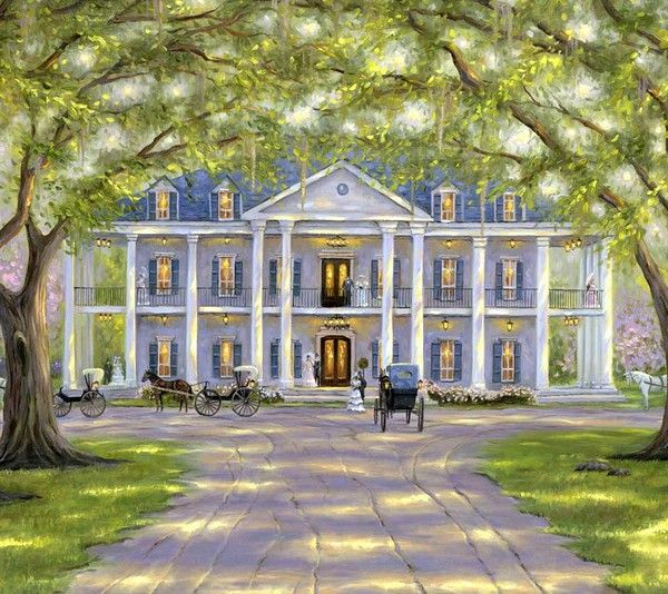 782772d5386ce669ec83d69c3f1e8634 Paintings Of Old Southern Homes Plantations And Mansions on evergreen plantation painting, plantation oil painting, plantation house painting,