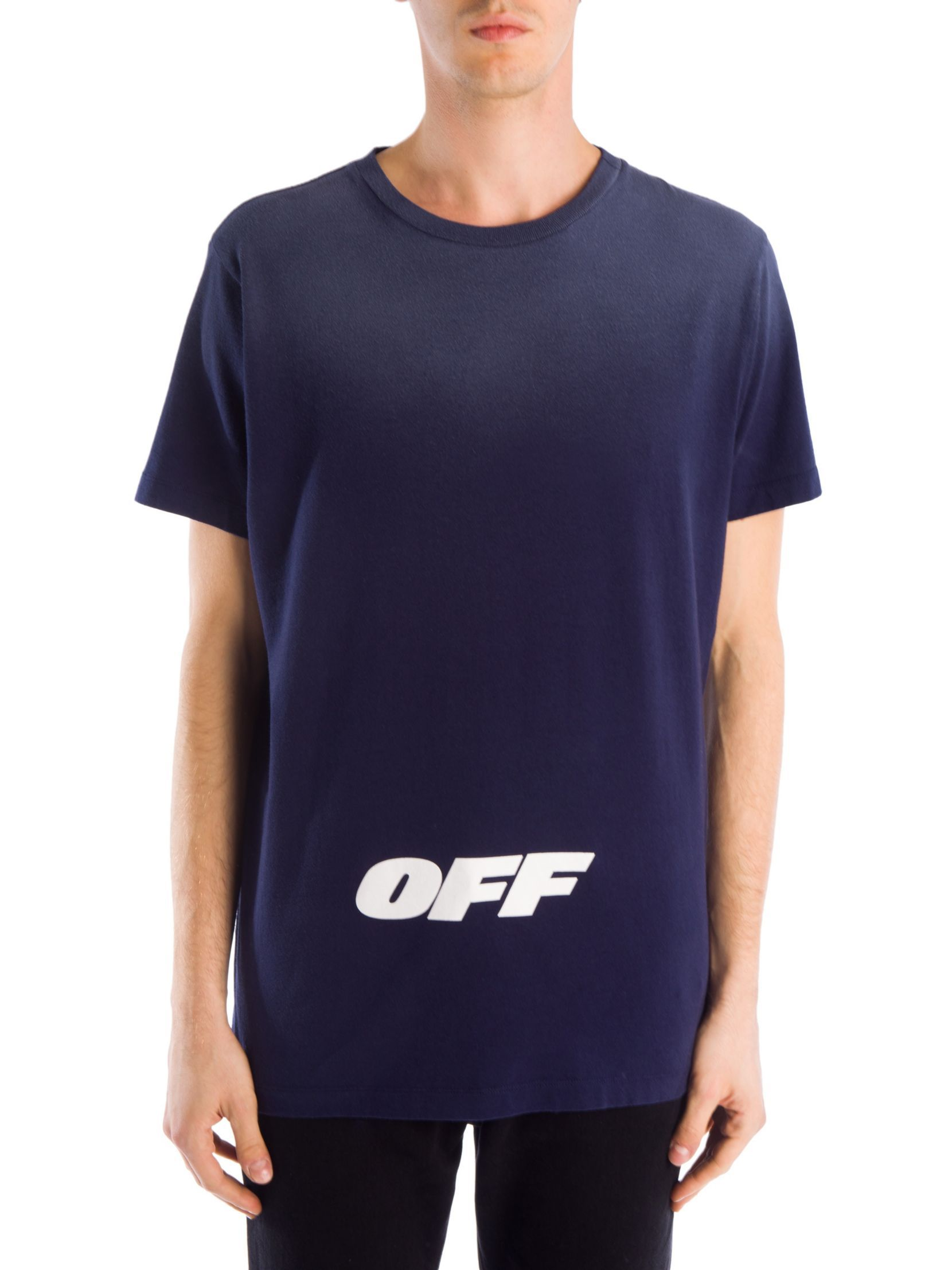 Off White Wing Off Short Sleeve Cotton Slim Tee Sleeve Cotton Mens Tops T Shirt