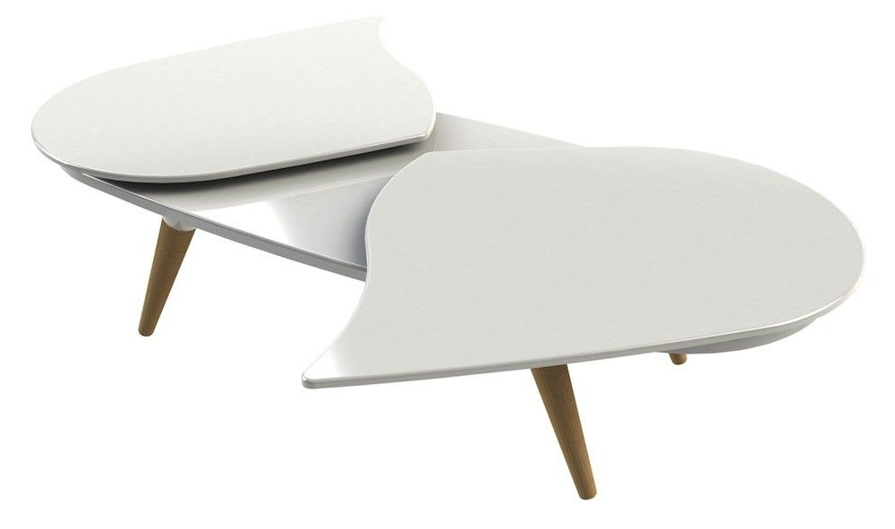 Mesa de centro Isidore 8 blanca