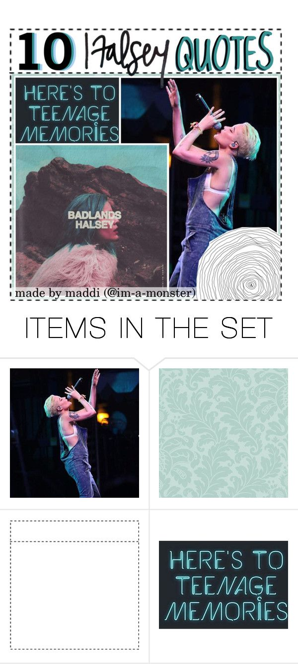 """""""▲ 10 Halsey Quotes ▲"""" by hardcore-tipping ❤ liked on Polyvore featuring art"""