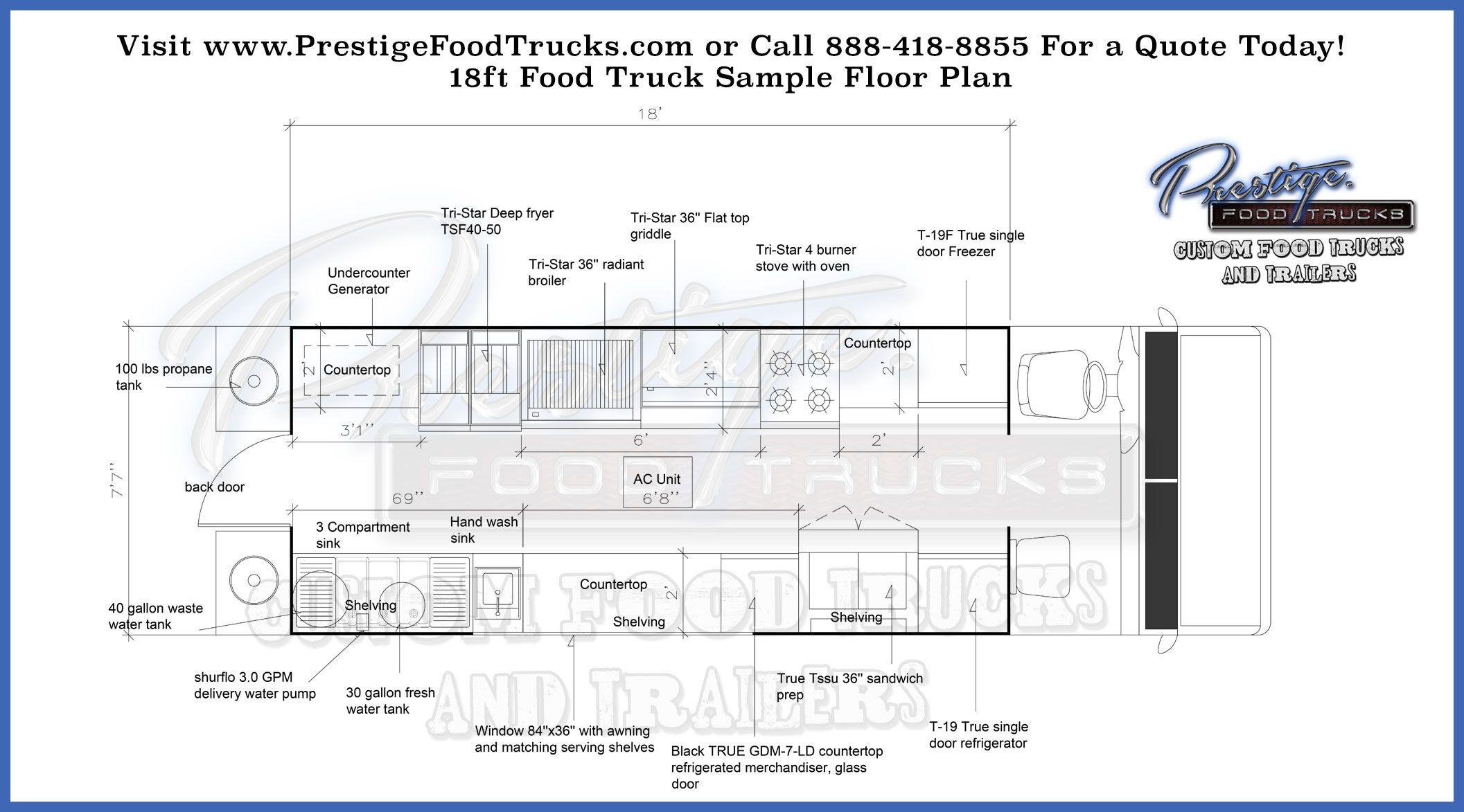 Custom Food Truck Floor Plan Samples Custom Food Truck