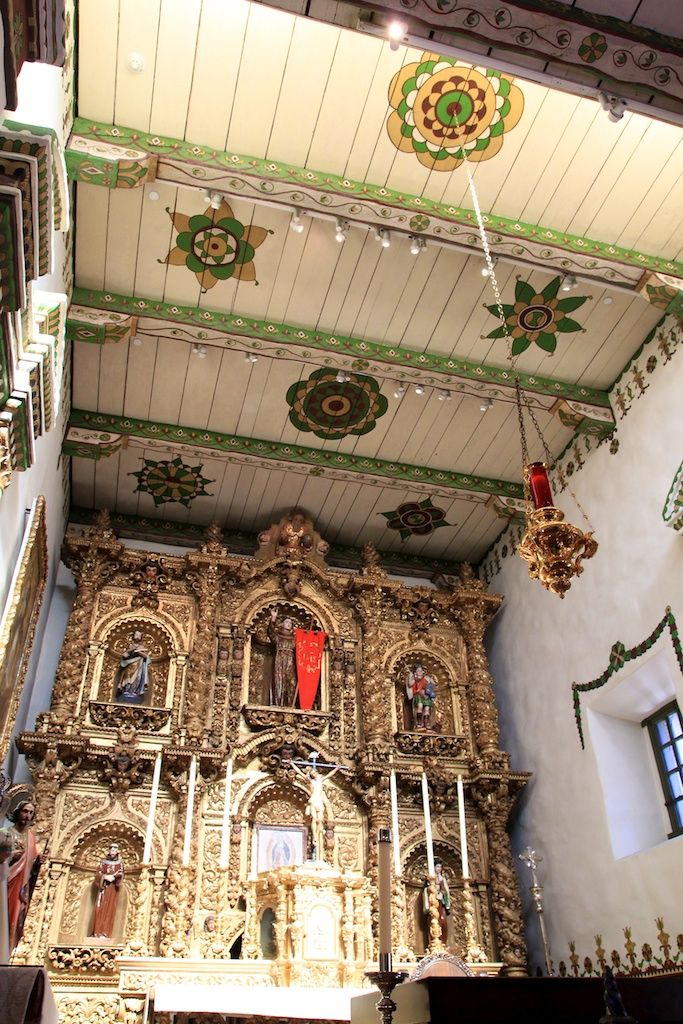 San Juan Capistrano California Mission Interior Elegant Altar