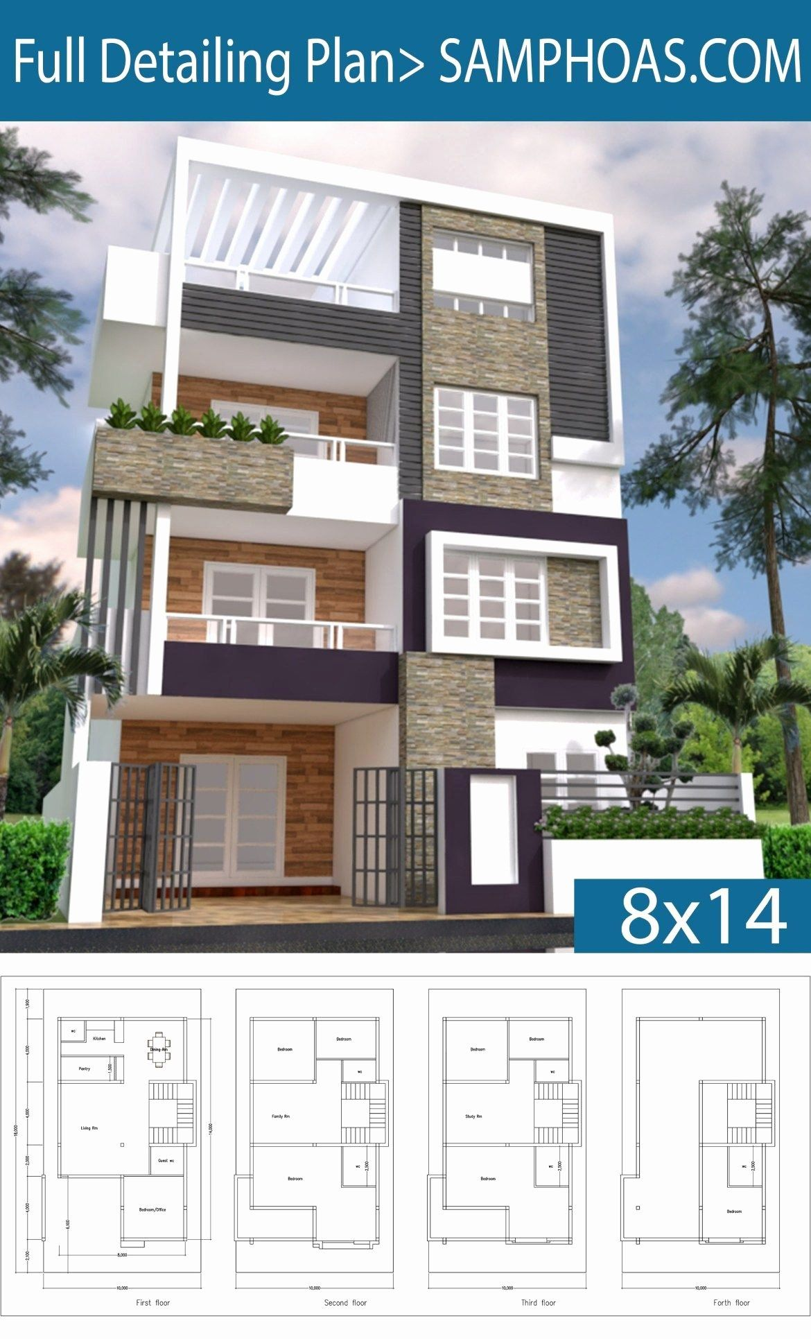 12 8 Bedroom House Plans in 2020 Small house elevation