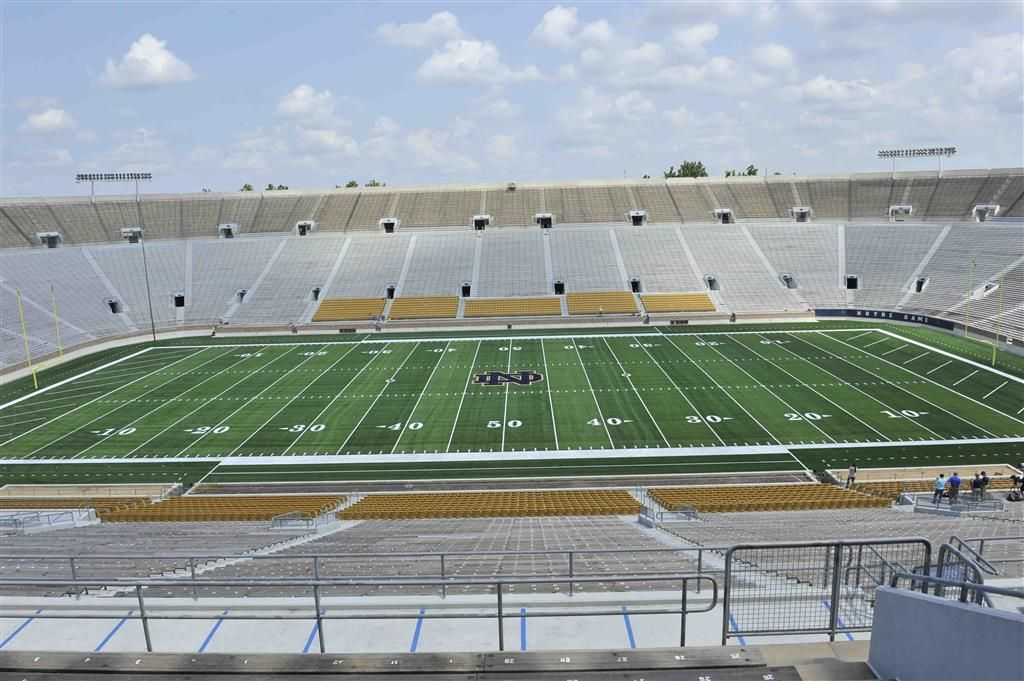Fieldturf Final Installation Photos Installation Notre Dame