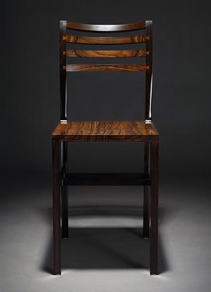 Chair Made With African Blackwood Legs And Zircote Seat And Back