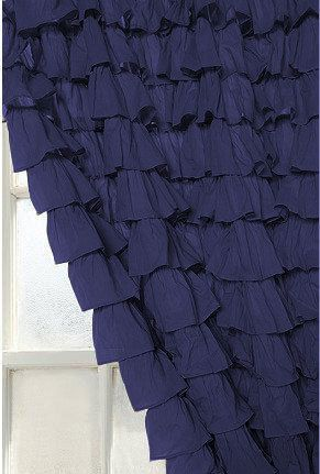 NAVY BLUE Ruffle Shower Curtain Egyptian Cotton 1000 By Softlinens 13999