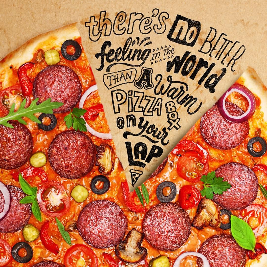 Ian Barnard Instagram Mmmmm Pizza Quote By Kevin James Kevinjames Handlettering Typography Pizza Fo Caixa De Pizza Modelos De Cardapio Gastronomia