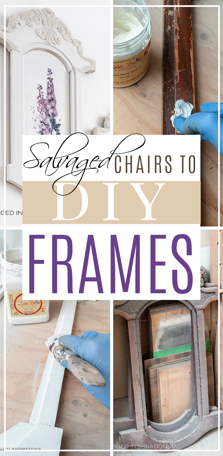 Salvaged Chairs to DIY Frames | DIY Frames Perfect For Any Season | Salvaged Inspirations  #siblog #salvagedinspirations #paintedfurniture #furniturepainting #DIYfurniture #furniturepaintingtutorials #howto #furnitureartist #furnitureflip #salvagedfurniture #furnituremakeover #beforeandafterfurnuture #paintedfurnituredieas #dixiebellepaint #redesignwithprima
