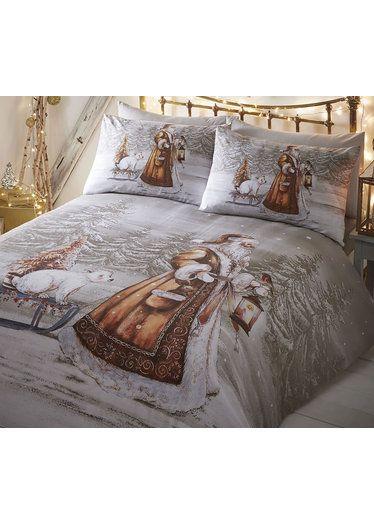 Joyeux Noel Twilight.Twilight Santa Super King Size Bedding Christmas