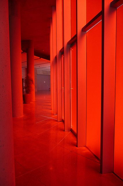 Red glow | Frosted red glass panels at entrance of the new Seattle City Hall | Image credit:  Bill Bowdish on Flickr.com