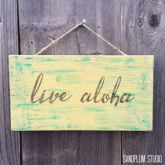 Live Aloha Wood Sign - Aloha Sign - Hawaii Wood Sign - Hawaiian ...