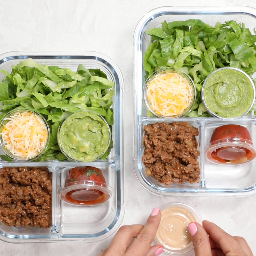 Taco Salad Meal Prep – Carey&CleanEatingS
