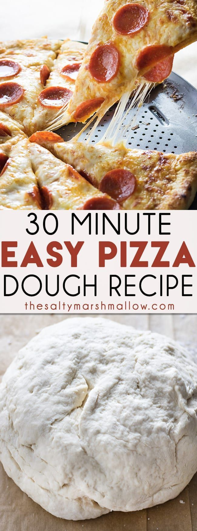 Miracle Pizza Dough Recipe is the absolute best easy basic pizza dough recipe This super easy pizza dough gives you a homemade thick buttery and chewy crust in only 30 mi...