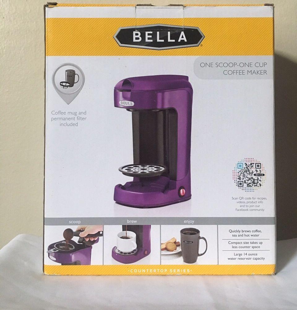 Bella one scoop one cup purple single serve countertop