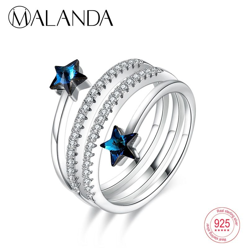 4bc505837297d Find More Rings Information about MALANDA Fashion Double Circle ...