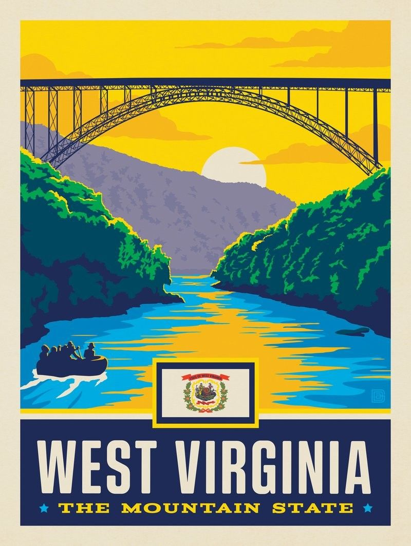 Anderson Design Group American State Pride West Virginia State