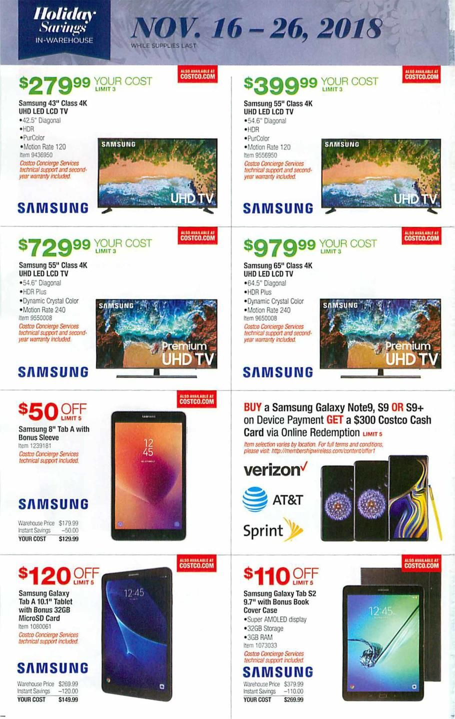 Costco Holiday Book 2018 Ads and Deals Holiday books