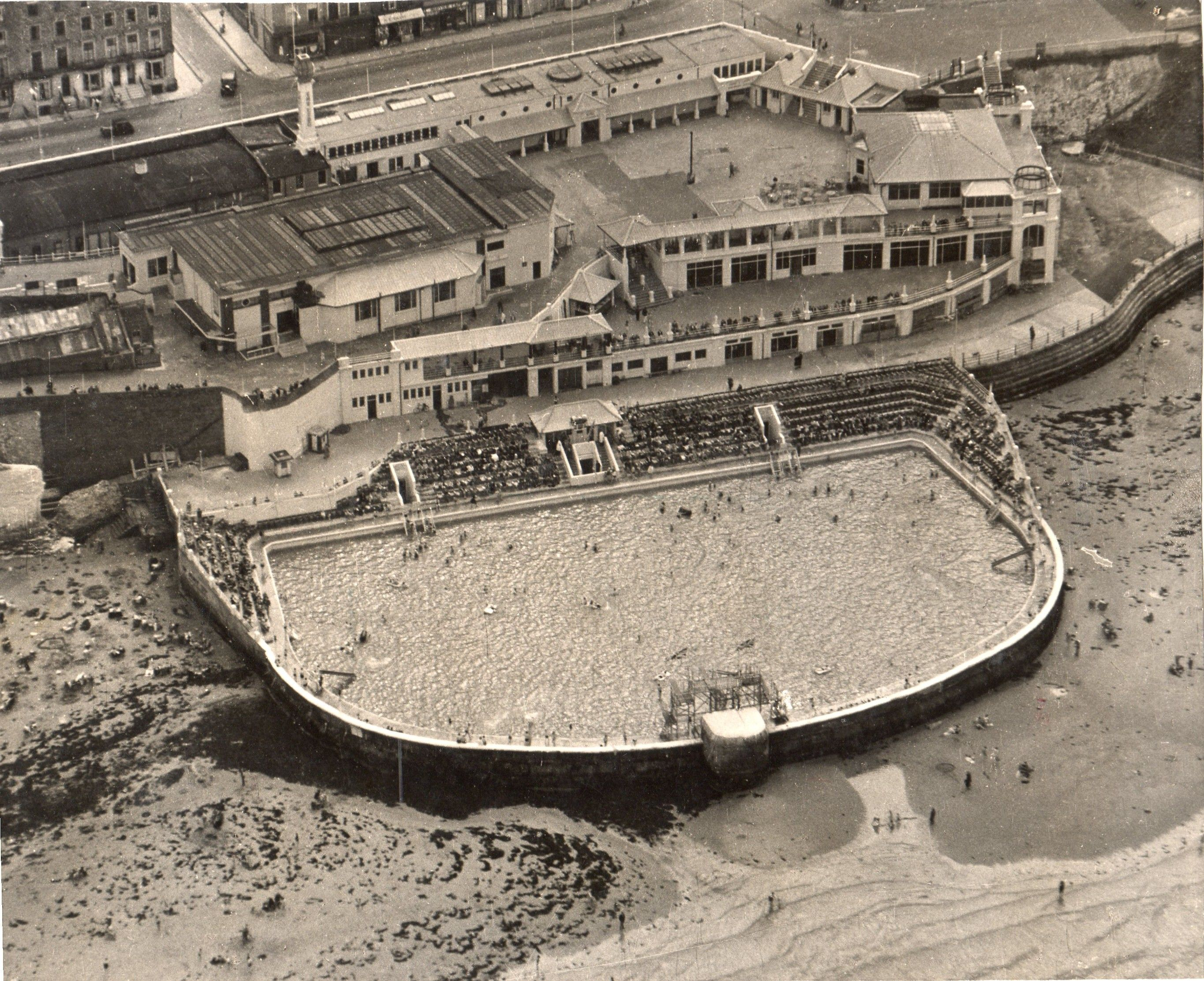 aerial shot of cliftonville lido margate i want to go to there