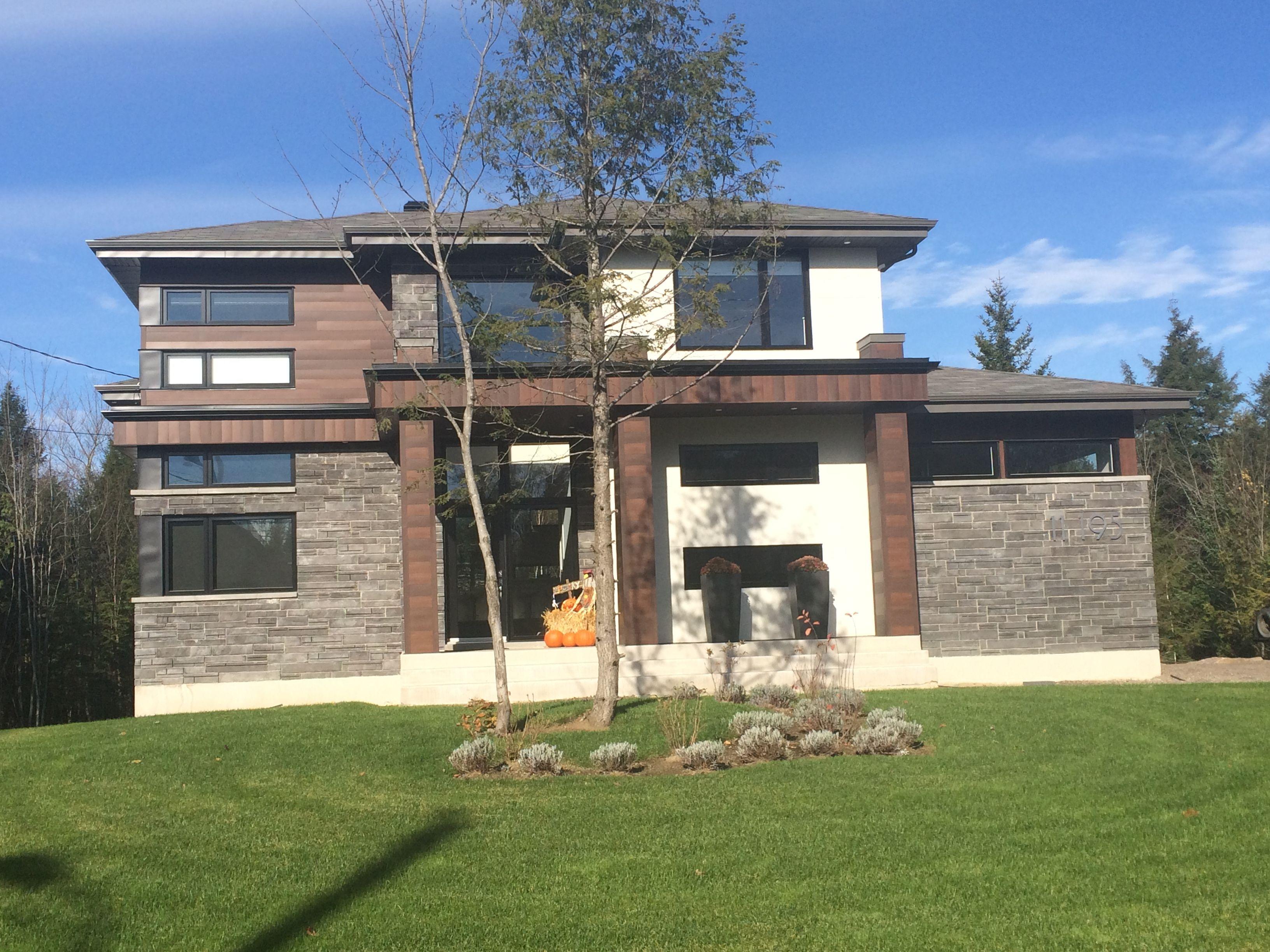 Maison de rêve, belle maison moderne situé au Québec. Maison au gout ...