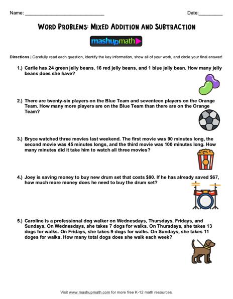Word Problem Worksheets Grade 4 fraction Fraction Word