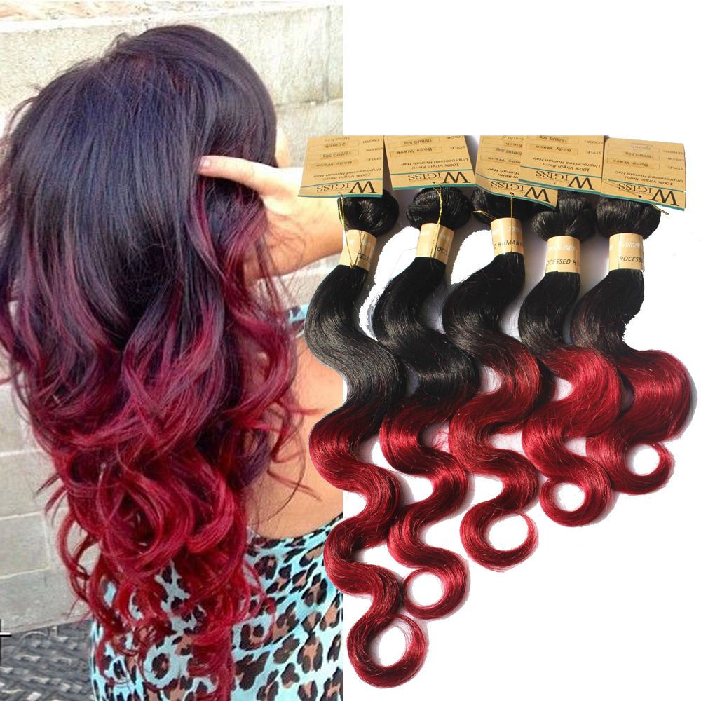 12 Ombre 100 Human Hair Extension Body Wave 6a Hair Weft Us Local