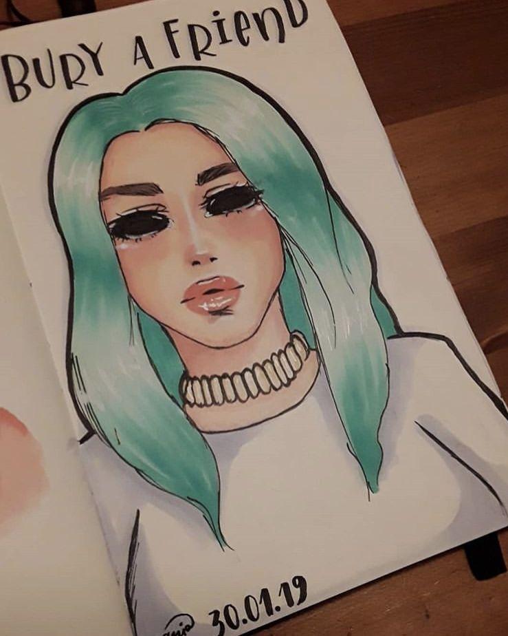 Bury A Friend Drawings Of Friends Sketches Billie Eilish