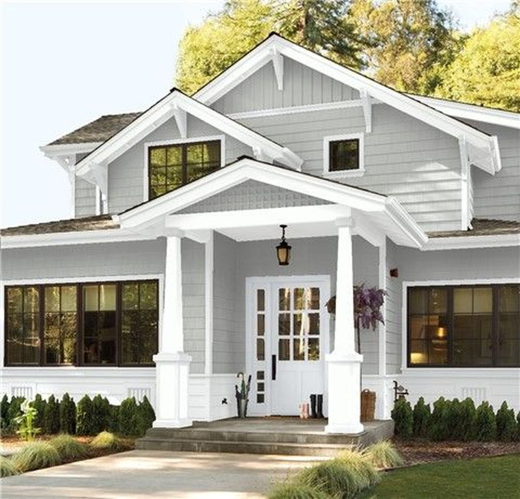 30 Beautiful Farmhouse Exterior Paint Colors Ideas In 2020 Gray House Exterior Exterior Paint Colors For House Exterior House Paint Color Combinations