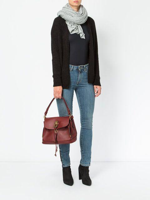05119b9f3bd5 Chloé Owen Bag With Flap - Farfetch   Style   Bags, Chloe, Fashion