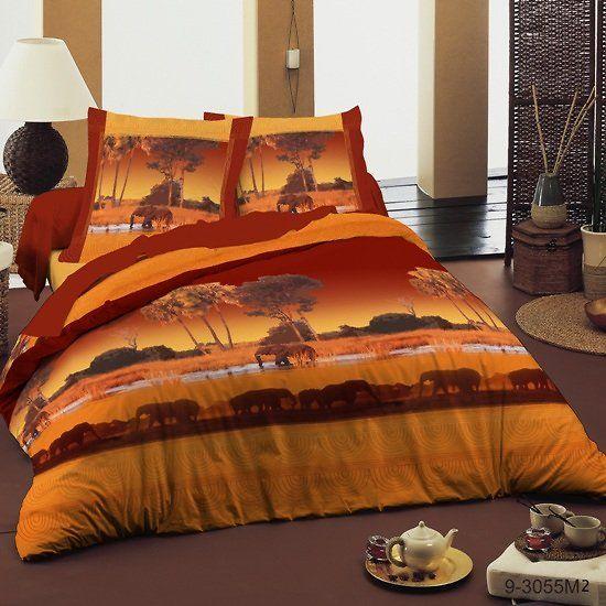 housse de couette et deux taies d 39 oreiller savane. Black Bedroom Furniture Sets. Home Design Ideas