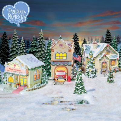 Precious Moments Christmas Village Collection | cheese spreads ...